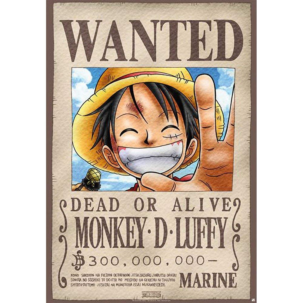 Placa Metal Luffy One Piece